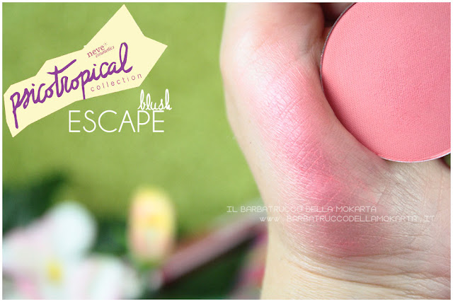 blush fard ESCAPE SWATCHES  psicotropical collection neve cosmetic