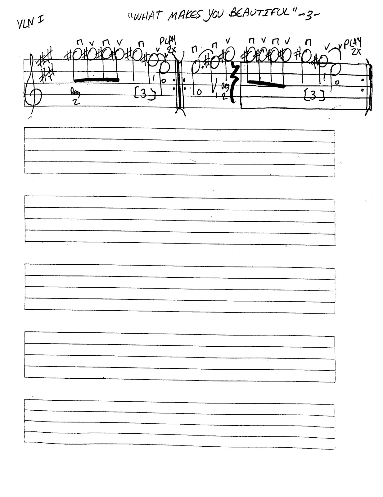 Miss Jacobson S Music What Makes You Beautiful Worksheet
