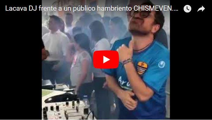 Rafael Lacava se estrenó como DJ frente a una multitud de personas hambrientas