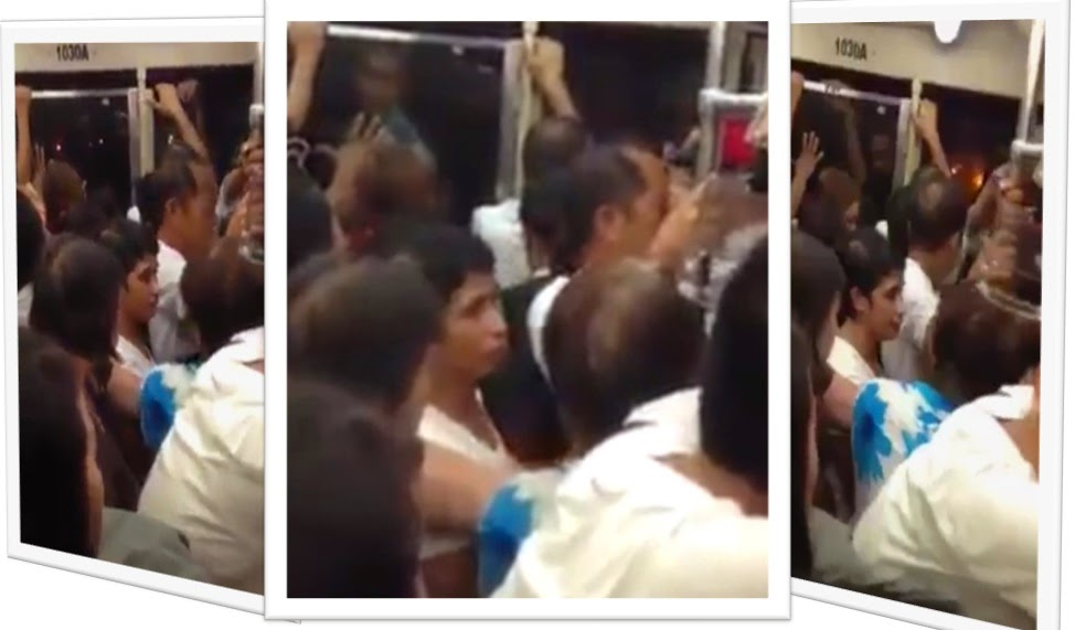 Another Amalayer? Old Woman goes berserk inside LRT