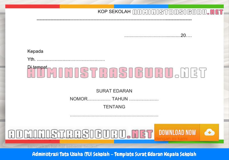 Contoh Format Surat Edaran Kepala Sekolah Administrasi Tata Usaha Sekolah Terbaru Tahun 2015-2016.docx