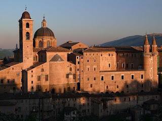 The Ducal Palace at Urbino is thought to have been completed by the High Renaissance architect Donato Bramante