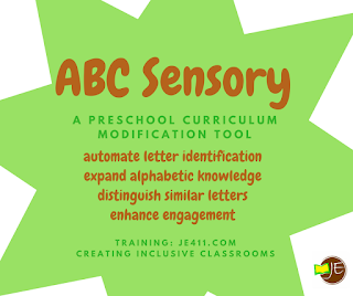 Creating an inclusive classroom using ABC Sensory curriculum supplement