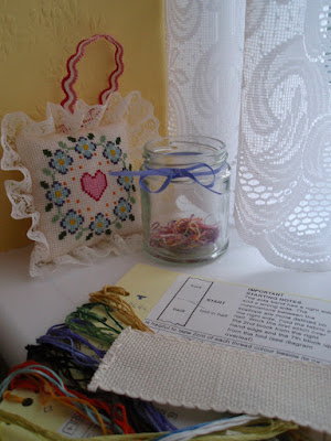 TUSAL Jar, valentine sachet and stitching project