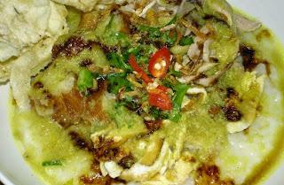 Resep Bubur Ayam Cabai Hijau