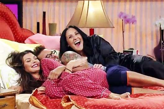 Ladies In Satin Blouses Dec 24 2012