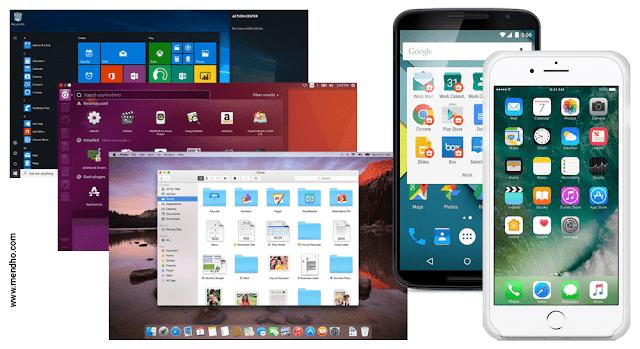 Sistem Operasi Berbasis GUI Pada Perangkat Desktop dan Mobile - Image by MeNDHo.com
