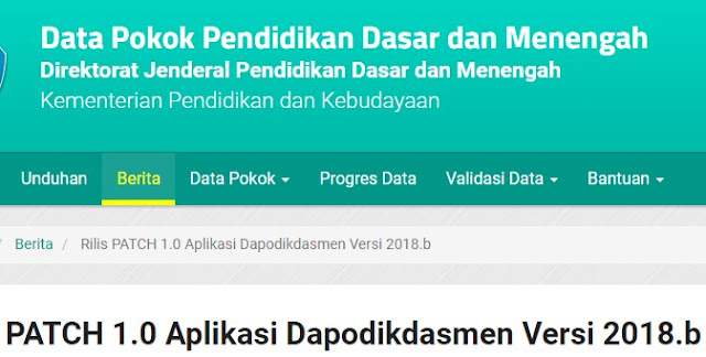 Download Aplikasi Dapodikdasmen Versi 2018b
