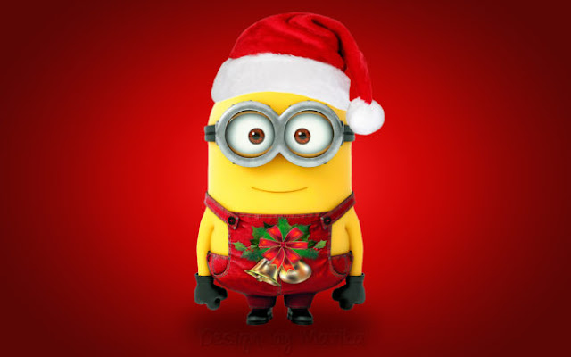Beautiful Cute Minion Merry Christmas HD Wallpapers
