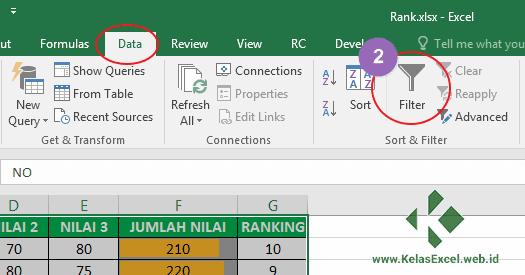Cara Mengurutkan Nama Sesuai Ranking Secara Otomatis 2