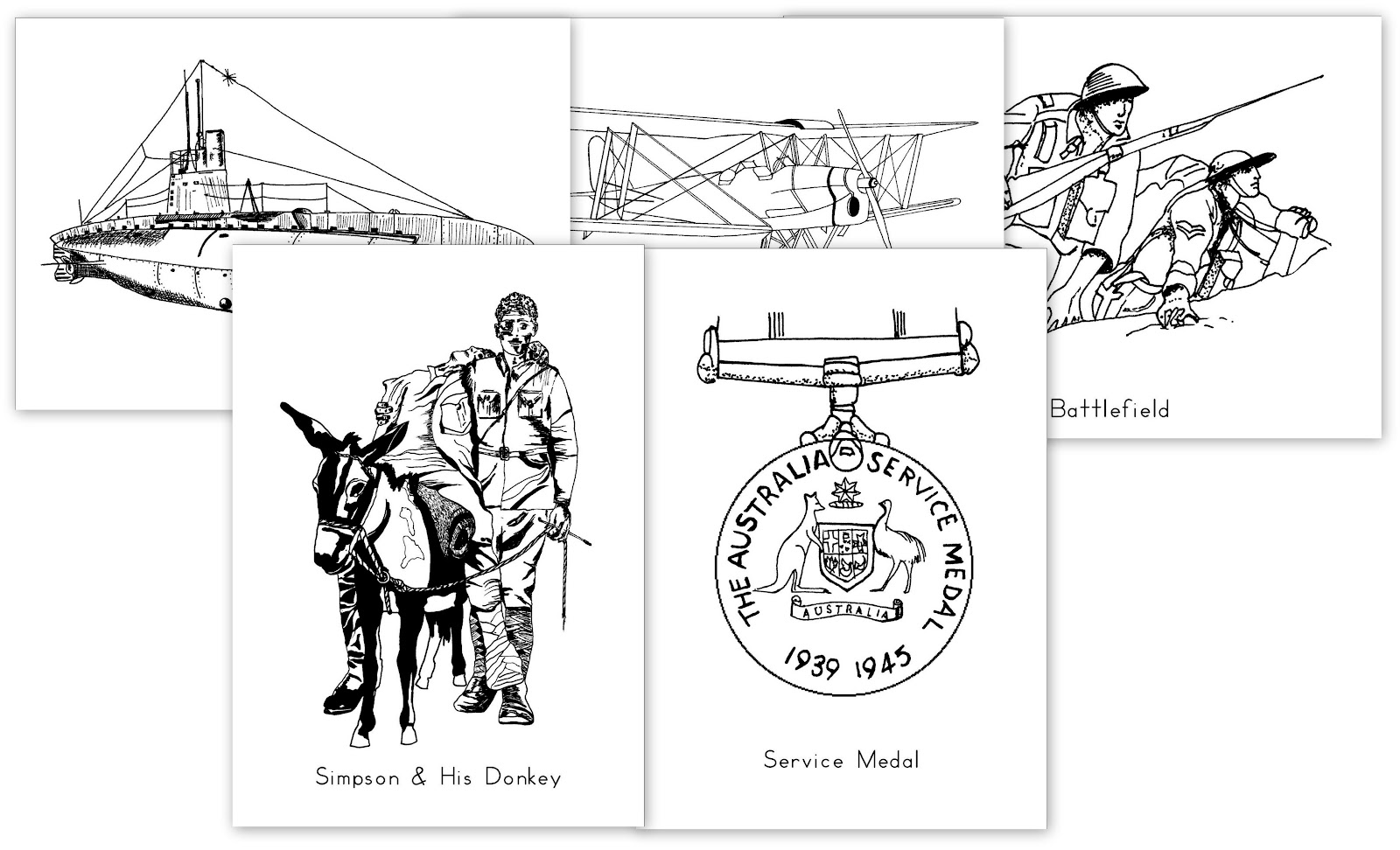 Free Printable Anzac Day Colouring In Pictures