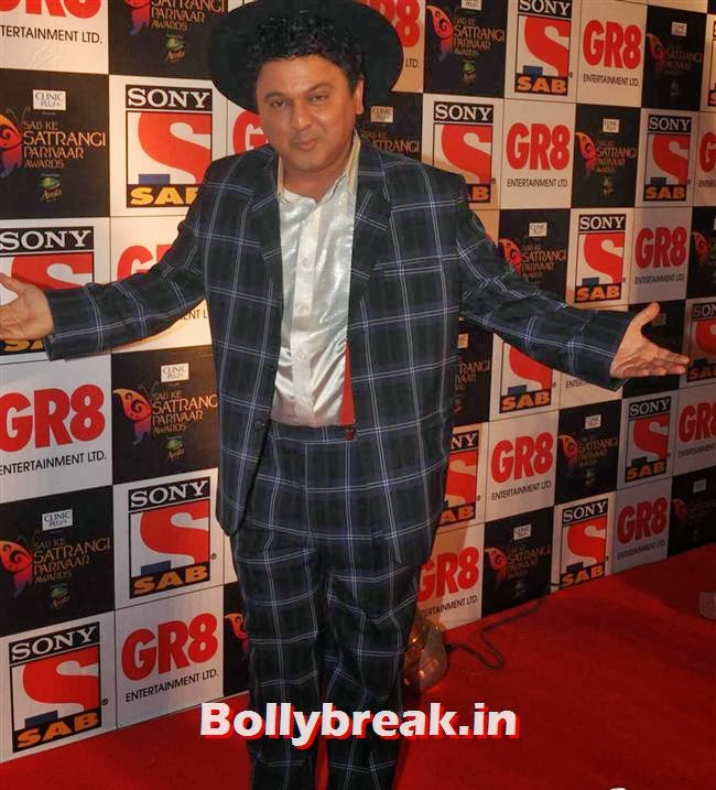 Ali Asgar, Evelyn, Raveena & Tv Babes at Sab Ke Satrangi Parivaar Awards 2014