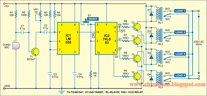 Simple Preamplifier With Transistors Bc547
