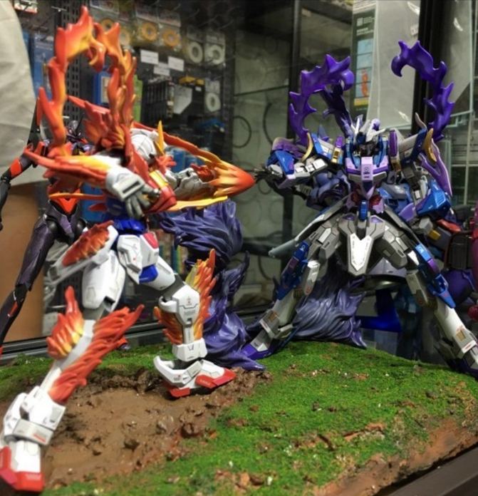 burning gundam vs barney