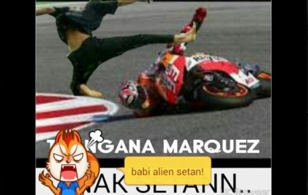 Meme Lucu Marques Jatuh di Australia
