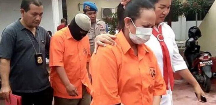 Erwinsyah Siregar dan istrinya Farha pemilik toko emas di Asahan yang diduga melakukan penipuan