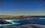 Maine Lobsterman by Rockwell Kent - Landscape Paintings from Hermitage Museum