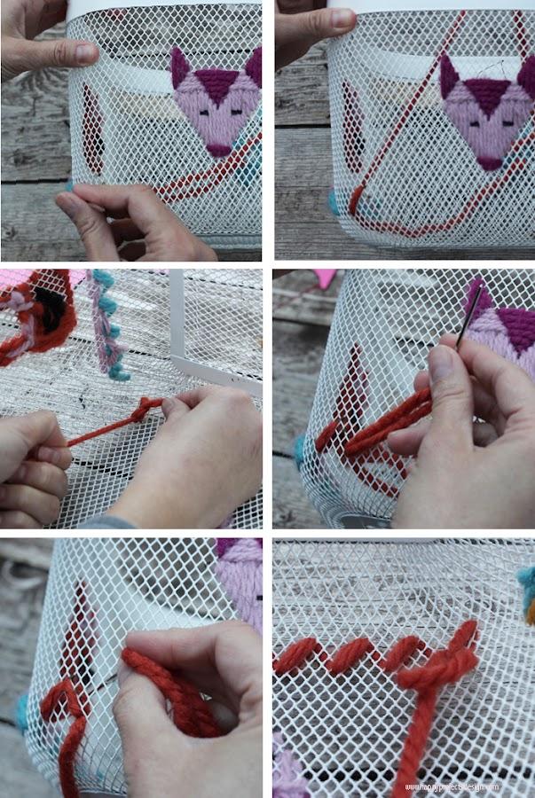 DIY cesta risatorp bordada