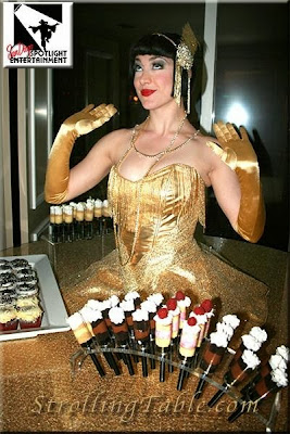 Great Gatsby Flapper Strolling Table
