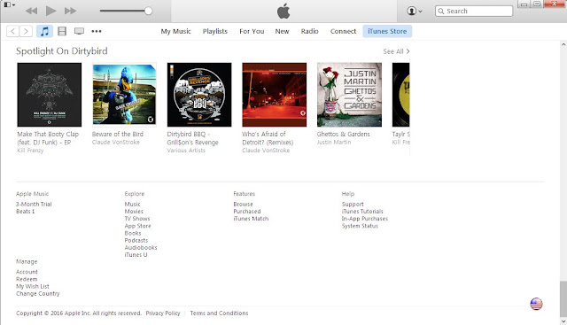 iTunes change country option