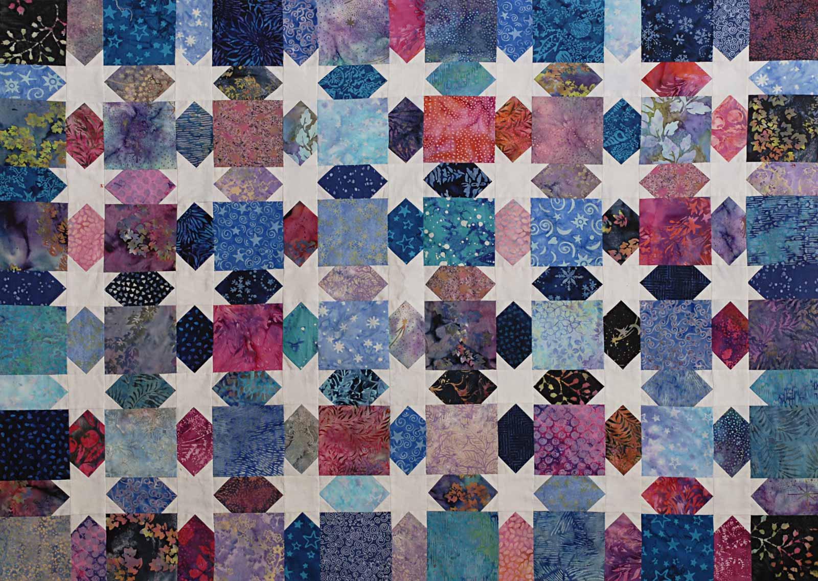 Quilt Batik scrap quilt by Jeanne Selep Imaging