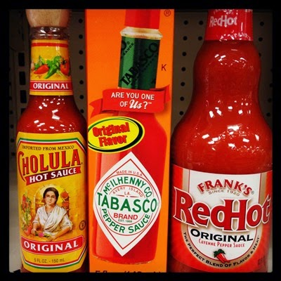 Vegan / Vegetarian Food Target Cholula, Tabasco, and Frank's Red Hot Hot Sauce