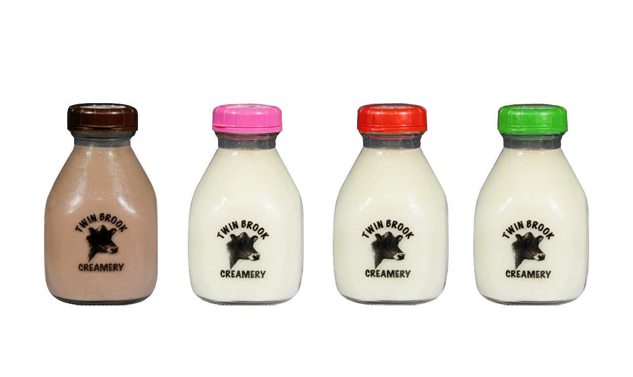 Twin Brook Creamery, Milk in Glass Bottles