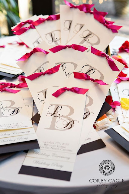 pretty wedding programs by Mary Bell | Corey Cagle Photography