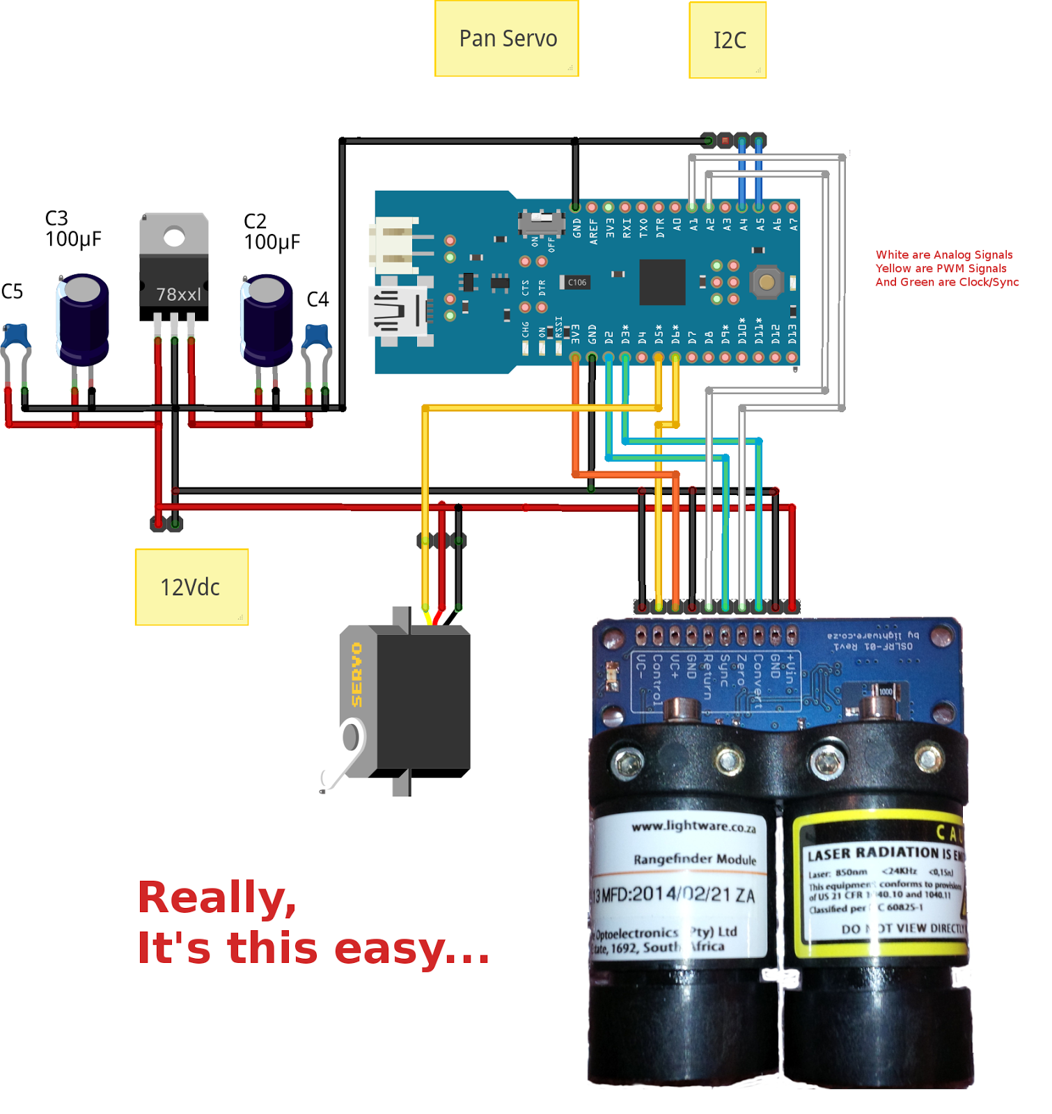 Arduino-Pi Ramblings: Prototype of OSLRF01 Arduino Scanning