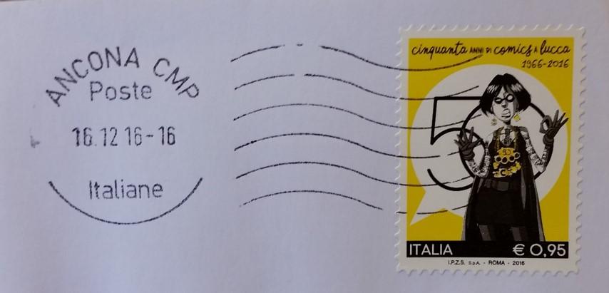 francobollo per il cinquantenario del Lucca Comics