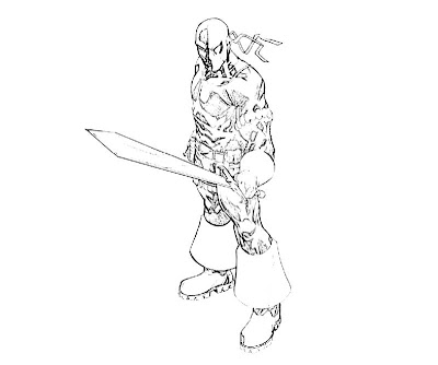 coloring pages of deathstroke wallpaper - photo#20