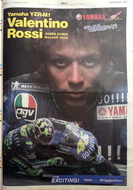 Poster Valentino Rossi Juara Dunia MotoGP 2005
