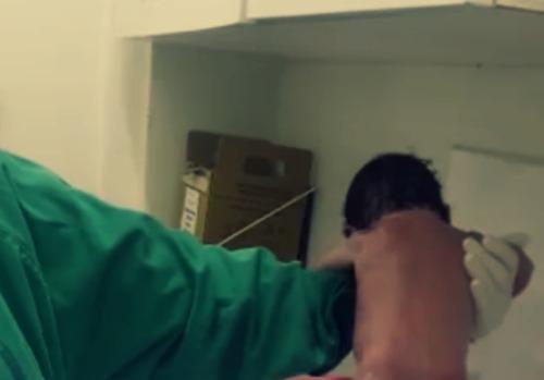 """Vídeo de um bebê """"andando"""" após o parto viraliza nas redes sociais"""