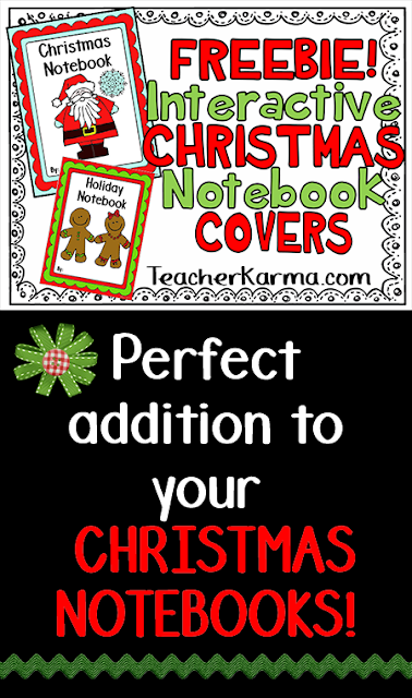 Christmas foldables notebook freebie