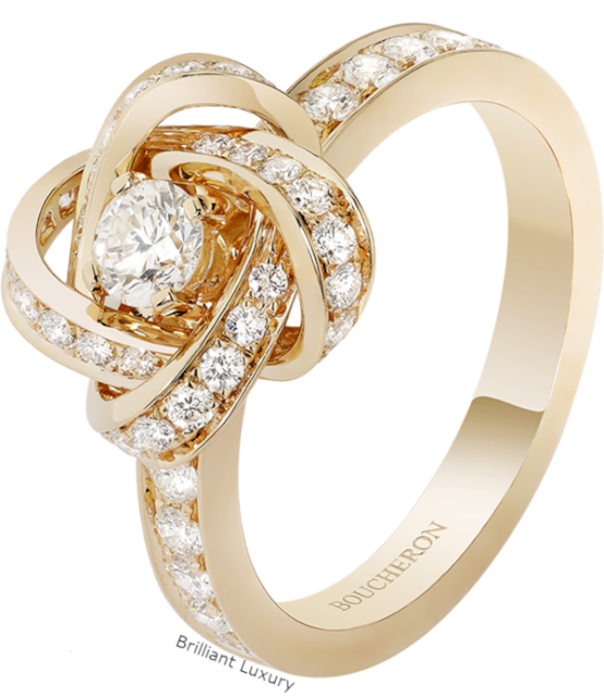 Brilliant Luxury♦Boucheron Paris Pivoine bridal ring