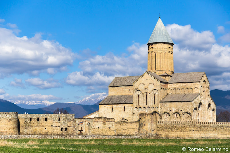 Alaverdi Cathedral and Snow-Capped Mountains Things to do in Kakheti Province Georgia
