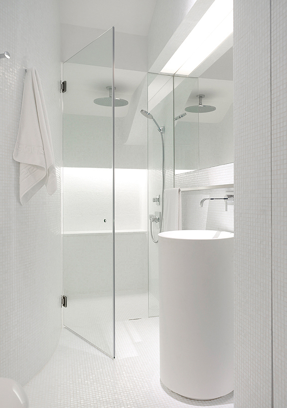 Picture of small white bathroom