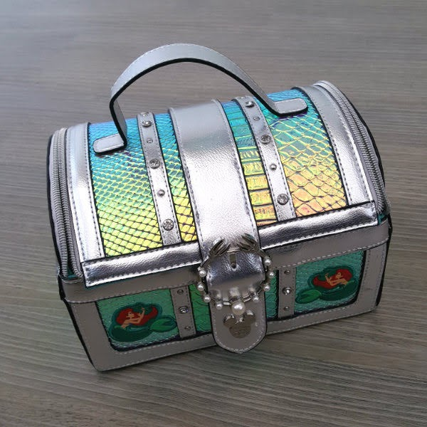 disney mermaid silver treasure chest handbag