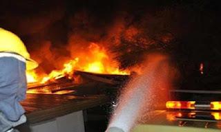 حدوث حريق نشب في مستشفى ومنزل في حدائق القبة والسيطرة على هذا الحريق وإخماده