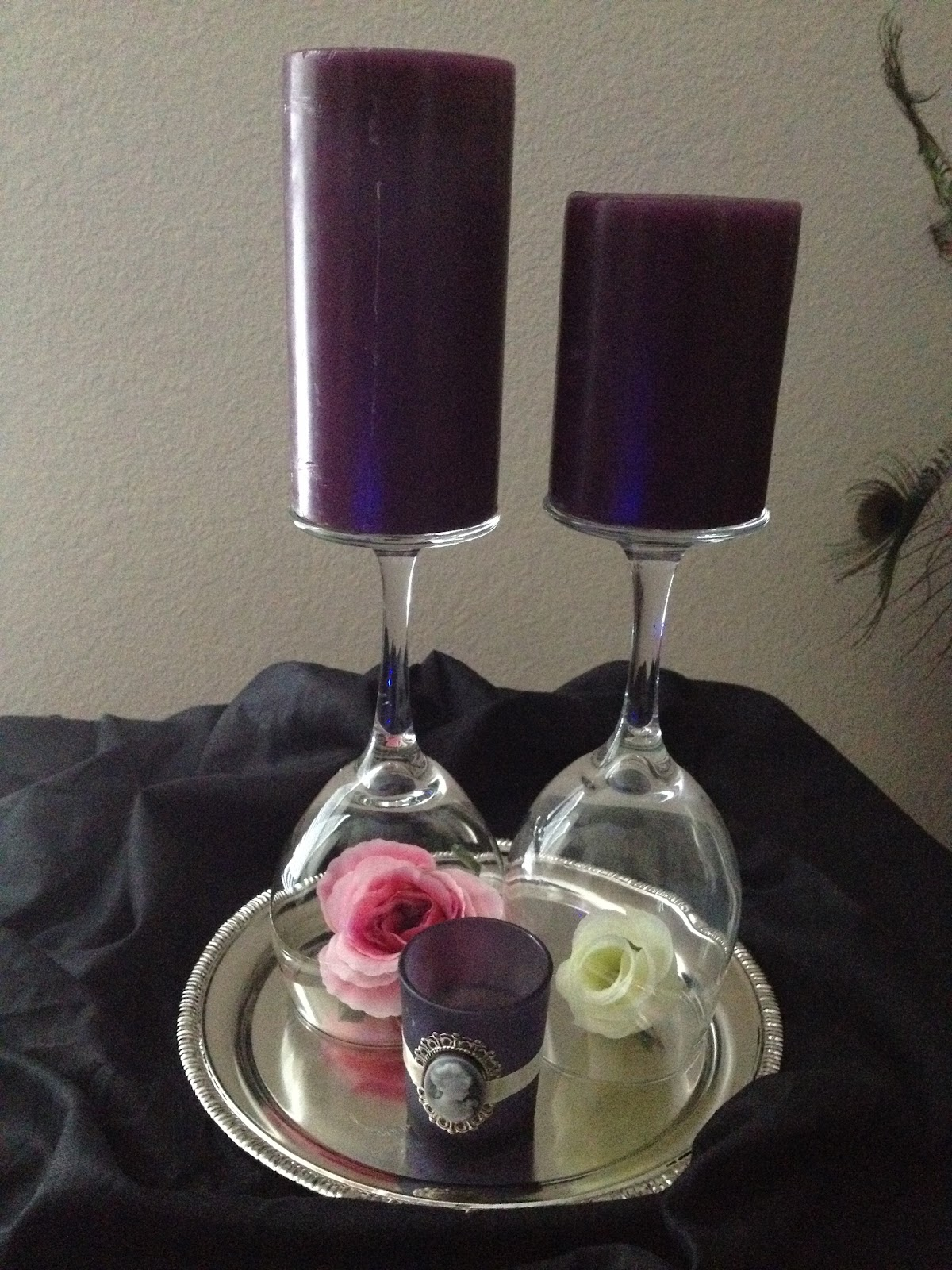 Miriam Ackerman Events: Simple Wine Glass Centerpiece ...