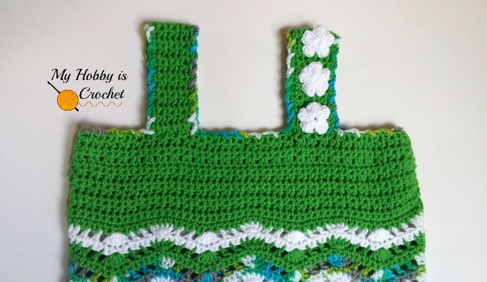 Free Crochet Pattern: Tropical Waves - Lacy Chevron Top For Little Girls