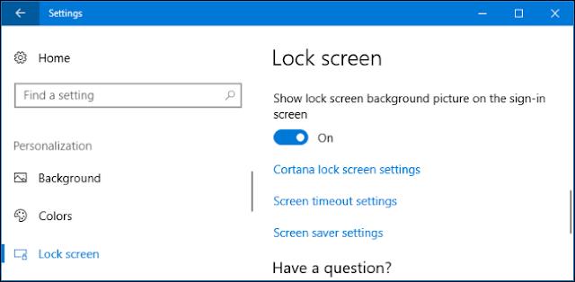 Cara mengganti backgroudn lock screen windows 10