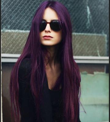 warna rambut burgundy untuk kulit gelap