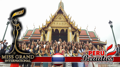Candidatas visitan el Palacio Real y Templo Buda de Esmeralda - Miss Grand International 2015