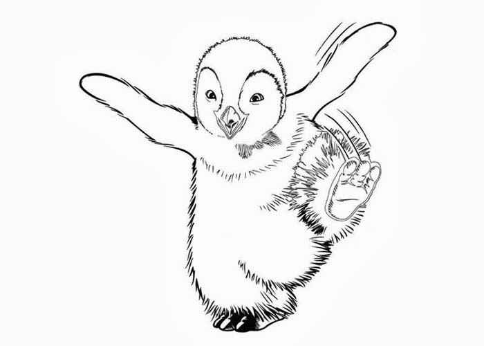 happy feet printable coloring pages - photo#9