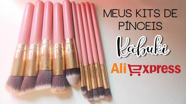 Meus kits de pinceis: Kit Kabuki (AliExpress #1) 10 Pinceis - Parte 2 | Rainara Carolina