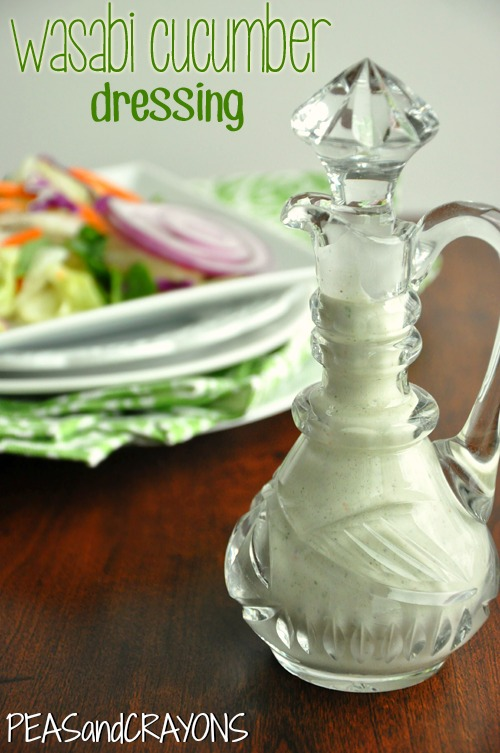 Wasabi Cucumber Ranch Dressing :: this quick and easy dressing also makes a terrific veggie dip!