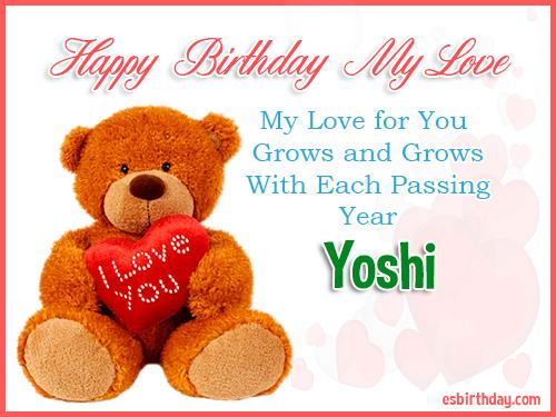 Yoshi Happy Birthday My Love