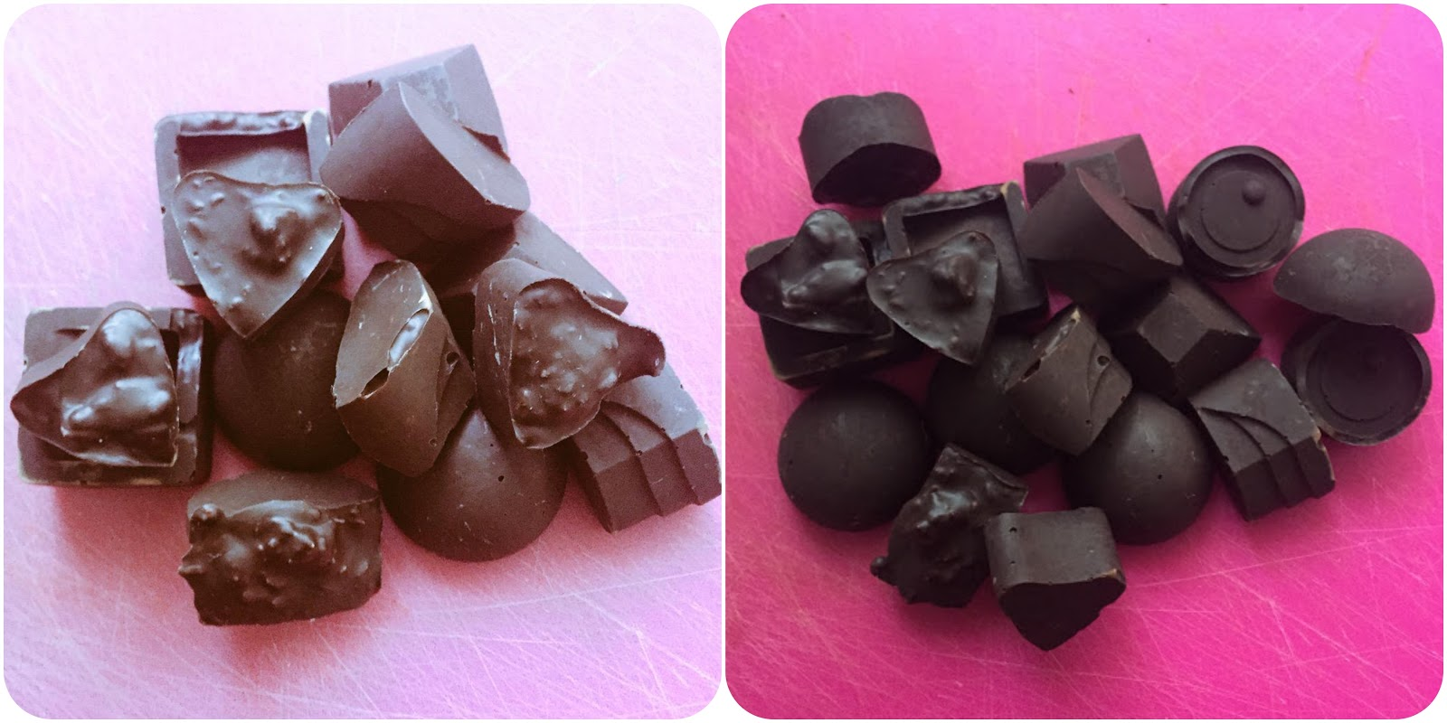 cute homemade dark chocolates