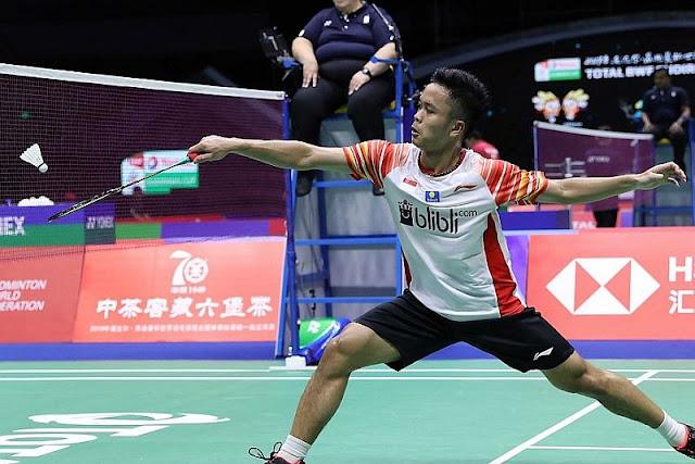 Anthony Ginting di Piala Sudirman 2019